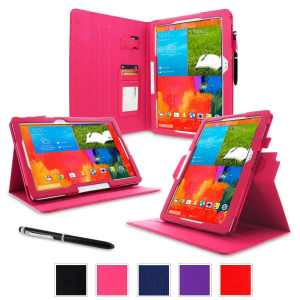 rooCASE Samsung Galaxy Note PRO & Tab PRO 12.2 Case - Dual View Multi-Angle Stand 12.2-Inch 12.2 Tablet Case - MAGENTA (