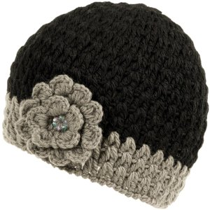Nirvanna Designs CH75 Crochet Flower Beanie