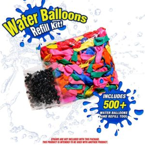 LYTIAN Magic Water Balloon Filler Refill Kit with 500 Colorful Balloons