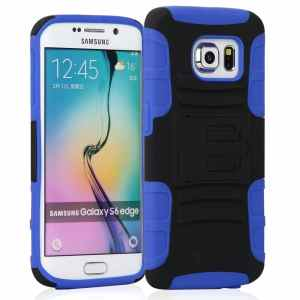 Samsung Galaxy S6 Edge Case KAYSCASE Heavy-Duty Belt Clip Dual Layered Cover Case