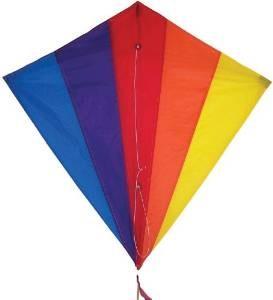 In the Breeze Rainbow Diamond Kite, 30-Inch