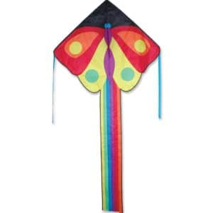 Kite - Large Easy Flyer Kite - Butterfly (47 X 91.5) with 300 Ft 30lb Test Kite String and Winder