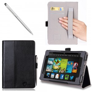 #1. i-BLASON Kindle Fire HDX 7 inch Tablet Leather Case Cover