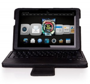 #3. IVSO KeyBook Bluetooth Keyboard Case