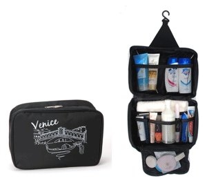 Big Dragonfly Waterproof Large Capacity Cosmetic Bag Travel Kit Organizer Bathroom Storage with Hanging Elegant for Women an
