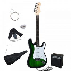 FDW Green Electric Guitar Package