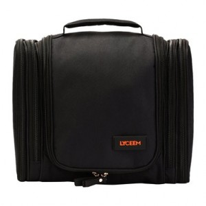 LYCEEM 5 Space Mens Hanging Toiletry Bag Travel Orgaizer Kit Black