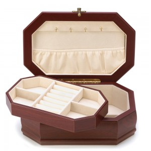 Elegant Rosewood Finish Jewelry Box