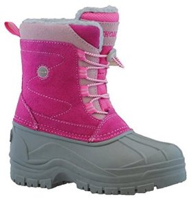 Khombu Girls Suede Snow Boot