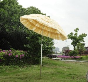 Outsunny Portable Tiki Beach Patio Umbrella