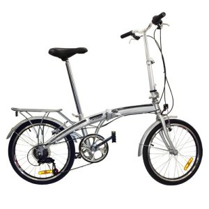 Best Choice Products® 20 Folding Bicycle Shimano 6 Speed Bike Fold Storage Silver