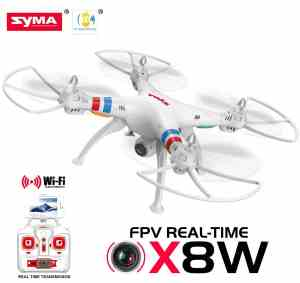 Cheerwing® Syma X8W FPV Real-time 2.4Ghz 4ch 6 Axis Gyro Headless Large RC Quadcopter Drone with HD Camera RTF (White) - Ship Fr