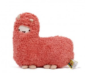 Crazy Genie Llama Alpaca Hug Plush Pillow Cushion Soft Toy Doll Furnishing Gift (red)