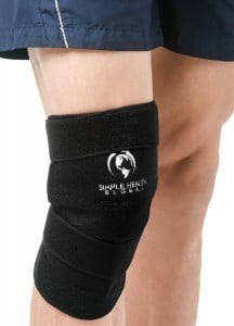 Knee Support Sleeve Wrap By Simple Health, Self Heating Adjustable Brace, Magnetic Pain Relief