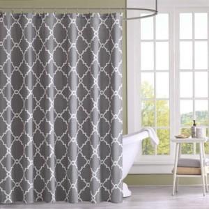 Madison Park Saratoga Shower Curtain - Grey - 72x72