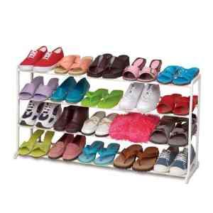 Ohuhu® 20 Pair Shoe Rack Shoe Organizer, 35(L) X 10(W) X 19.3(H), White