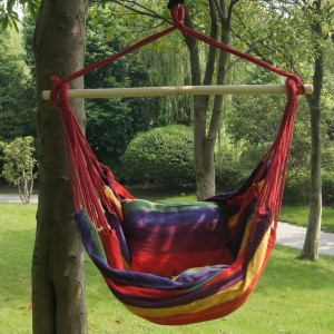 Prime Garden Tropical Stripe Soft Comfort Hanging Hammock Chair