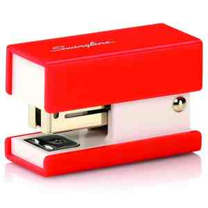 Swingline Mini Fashion Stapler, 12 Sheets, Red (S7087873)
