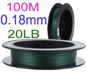 1pcs Super Strong 100m 20lb 0.18mm Dyneema Fishing Line Braided 4 Strands Wire