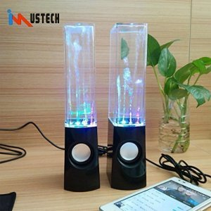 Black Dancing Water Fountain Light Show Sound Speaker (Black)