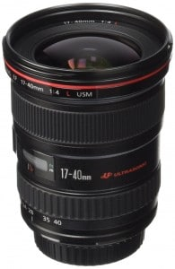 Canon EF 17-40mm f4L USM Ultra Wide Angle Zoom Lens for Canon SLR Cameras