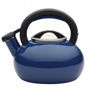 Circulon Teakettles Sunrise Whistling Teakettle, 1 12-Quart, Navy Blue