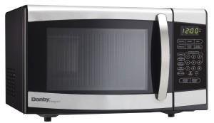 Danby Designer 0.7 cu.ft. Countertop Microwave, BlackStainless Steel