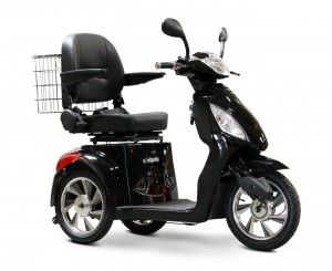 E-Wheels EW-36 High Power Fast 3 Wheel Mobility Scooter (Black)