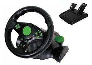 Kabalo Gaming Vibration Racing Steering Wheel (23cm) and Pedals for XBOX 360 PS3 PC USB