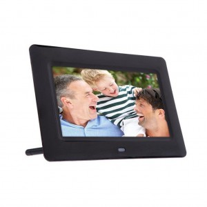 Kingfansion 7inch HD LCD Digital Photo Frame with Alarm Clock Slideshow MP34 Player Black