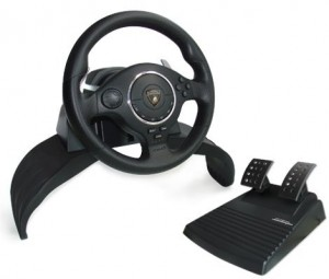 Lamborghini Super Sport Evo Steering Racing Wheel for PS3  PS2  PC