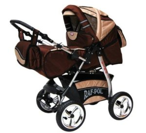 Lux4Kids King 2 in 1 Pram Combi Stroller & Pushchair (rain cover, mosquito net, beverage tray, mattress, changing mat)
