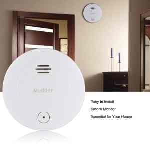 Mudder Replaceable 10-Year Lifetime Smoke Detector Fire Alarm Sound Alert System - Home Security Alarm Systems - Photoelectric Senso