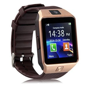 Padgene DZ09 Bluetooth Smart Watch with Camera for Samsung S5  Note 2  3  4, Nexus 6, Htc, Sony and Other Android Smartphones, Gold