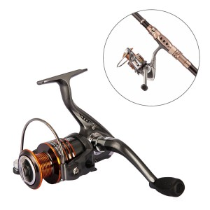 Plusinno® HongYing Series Fishing Reels Spinning Freshwater Saltwater with 5.21 Gear Ratio Metal Body Leftright Interchangeable Collapsible Hand
