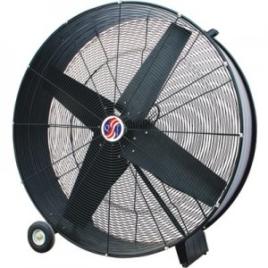 Q Standard Industrial Direct-Drive Drum Fan - 30in., 12 HP, 9100 CFM, Model# 10380
