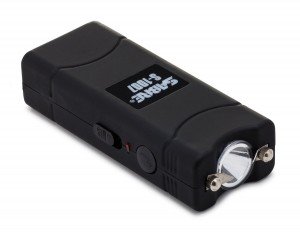SABRE S-1007 Ultra Compact Stun Gun with Built-in LED flashlight - Carrying case, built-in charger, and Warranty Included