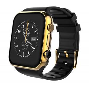 Scinex Unisex SW20 16GB Bluetooth Smart Watch GSM Phone, Gold  Black
