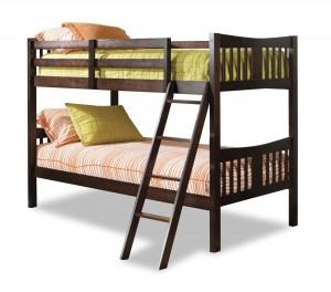 Stork Craft Caribou Bunk Bed, Espresso