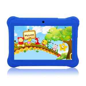 Tagital® 7 T7K Quad Core Android Kids Tablet, with Wifi and Camera and Games, HD Kids Edition w Zoodles Pre-Installed Blue