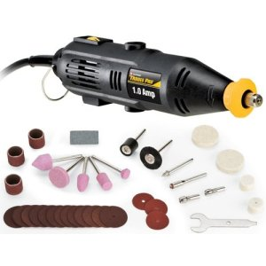 Tradespro 837203 Rotary Tool and Accessory Set, 36 Pieces