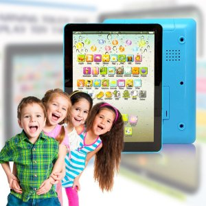 Wireless Pro® Children's Multimedia Learning Toy Tablet Styled Device with Music Sounds Numbers Letters Words and Phrases 6 Play Modes and 49 Push But