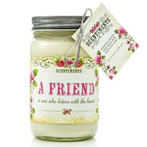 BEST FRIEND Gift Candle scented with Cinnamon essential oils