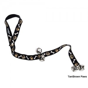 Coastal Potty Training Dog Bell TanBrown Bones