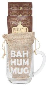 Cutie Cups Bellagio Cocoa Funny Christmas Coffee Mug Gift Set, 20 Oz (Bah Hum Mug)