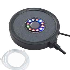 EKOSTORE® Aquarium Fish Tank Air Curtain Bubble Generator Bubble Air Stone with 12 Multi-color Underwater Changing LED Light