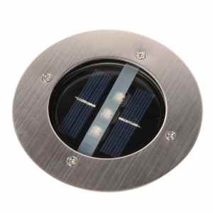 Exlight Solar Powered Ground Light Great for The Garden The Pathway or Stairway Comes With 3 LEDs and Two Types of Light Warm and Whit