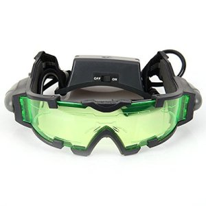 Floureon JYW-1312 Outdoor Help Night Vision Goggles Glasses with Flip Out LED Light, Model , Electronics & Accessories Store