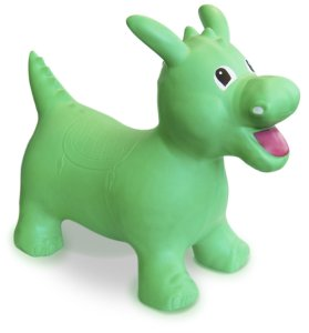 Happy Hopperz Green Dinosaur Inflatable Bouncy Toy Kids Space Hopper Bouncer
