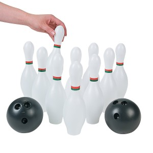 Kids Plastic 12 Pc. Bowling Set Party Toys